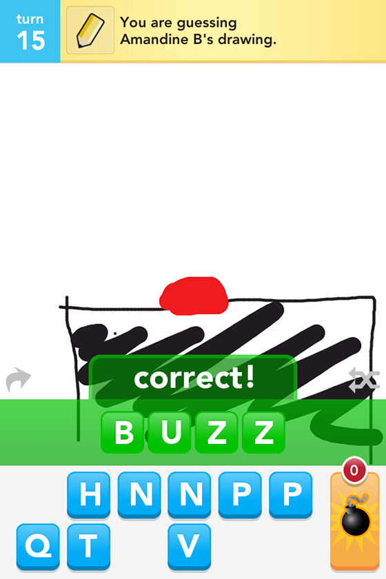 Draw something buzz
