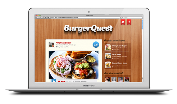 Burger quest application site