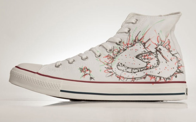in their shoes skrillex converse
