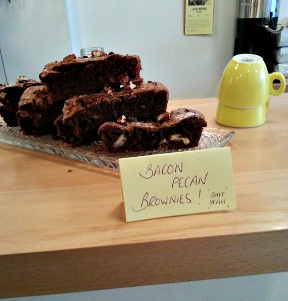 bacon pécan brownies holybelly