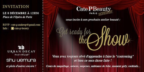 invitation cate P beauty workshop
