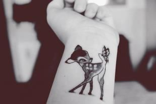 tatouage bambi disney