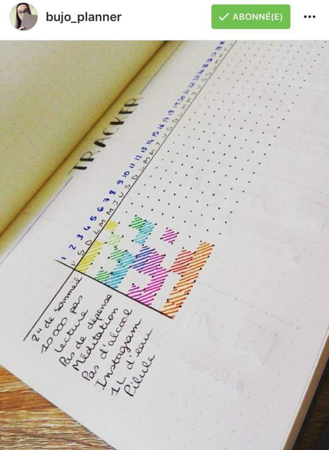 tracker habitudes bullet journal