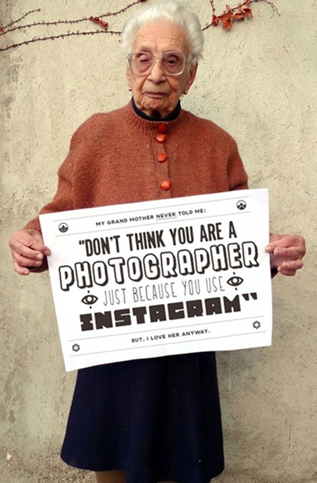 Don't think you're a photographer just because you use instagram