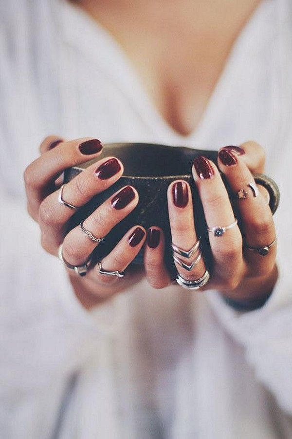 mid rings and warm coffee